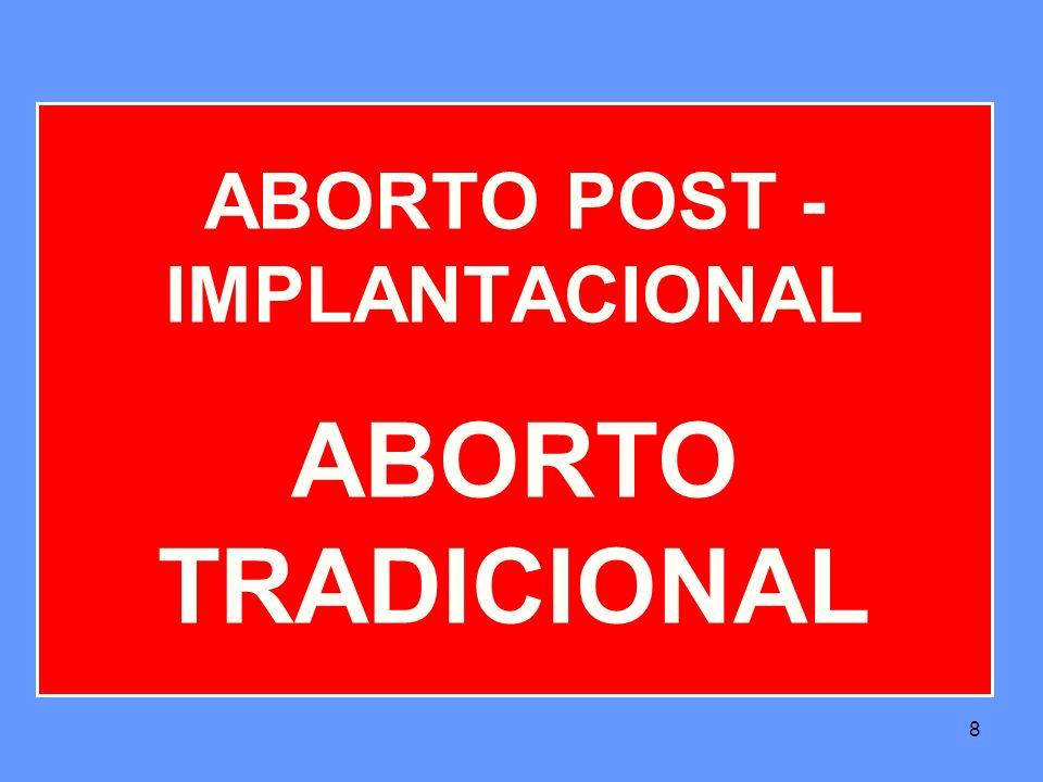 8 ABORTO POST - IMPLANTACIONAL ABORTO TRADICIONAL