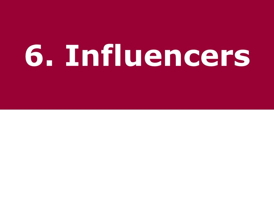 6. Influencers