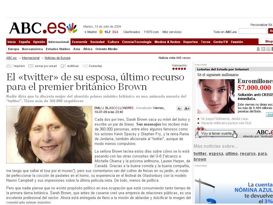 + INTEGRACIÓN ESTADOS Twitter, Facebook…