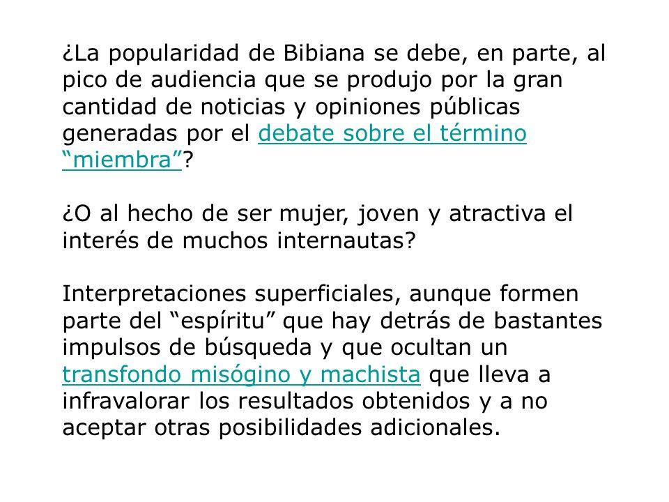 ¿La popularidad de Bibiana se debe, en parte, al pico de audiencia que se produjo por la gran cantidad de noticias y opiniones públicas generadas por