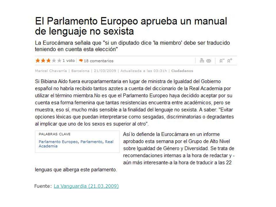 Fuente: La Vanguardia (21.03.2009)La Vanguardia (21.03.2009)