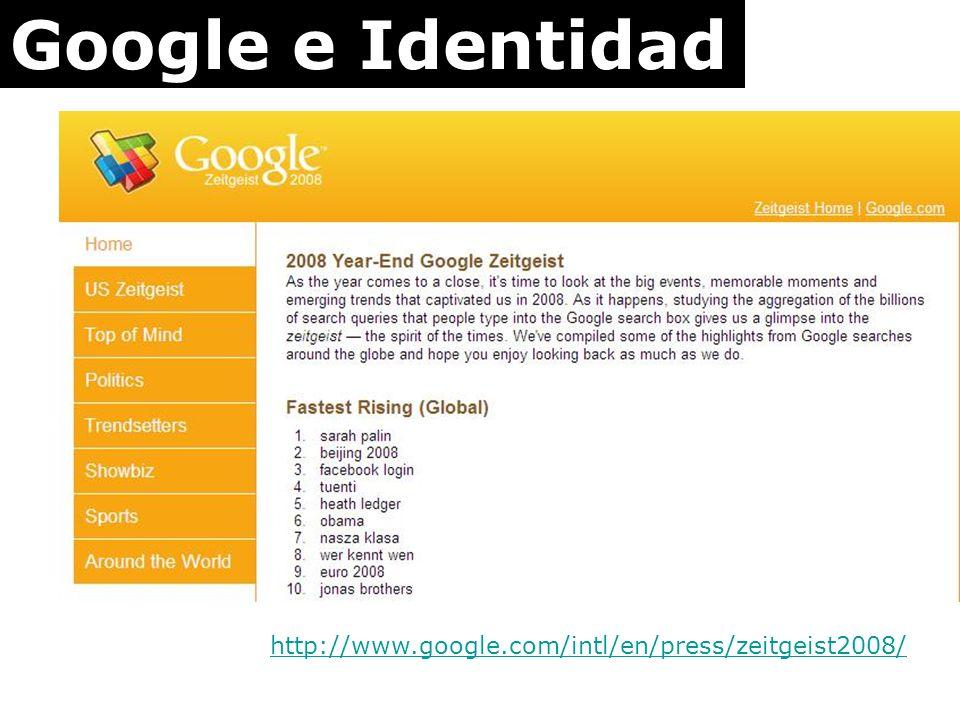 Google e Identidad http://www.google.com/intl/en/press/zeitgeist2008/
