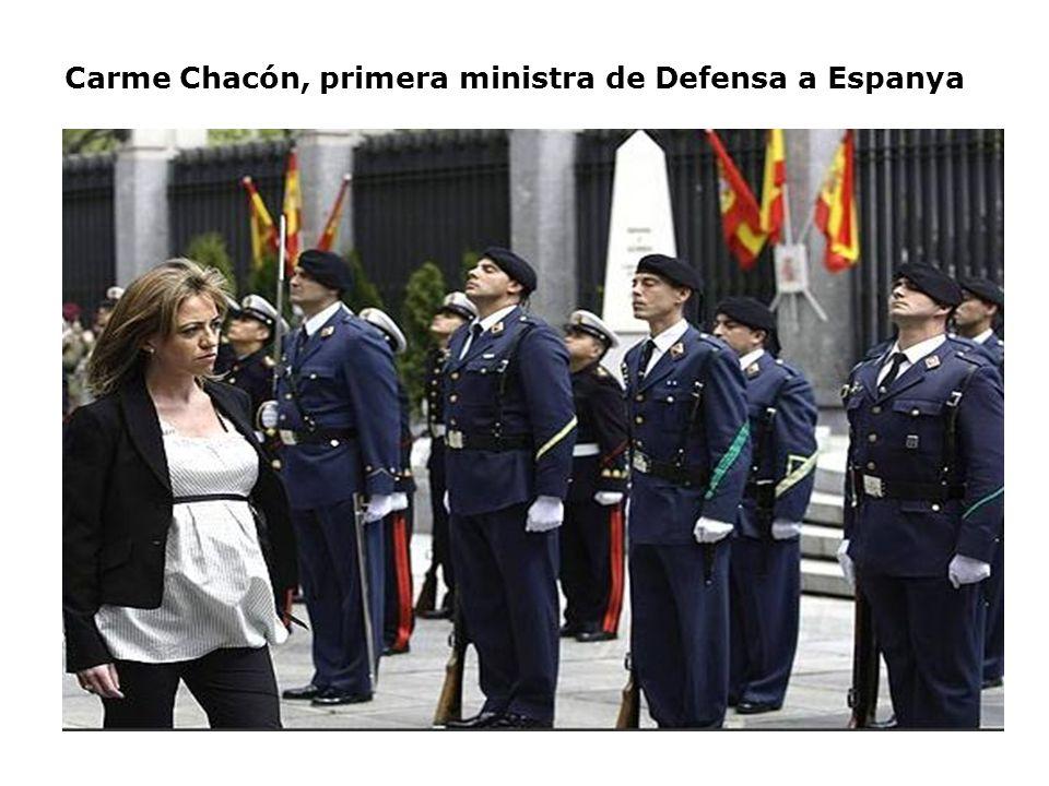 Carme Chacón, primera ministra de Defensa a Espanya