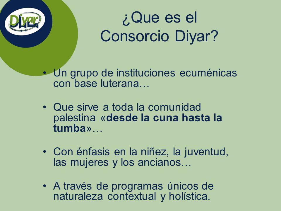 ¿Que es el Consorcio Diyar? Un grupo de instituciones ecuménicas con base luterana… Que sirve a toda la comunidad palestina «desde la cuna hasta la tu