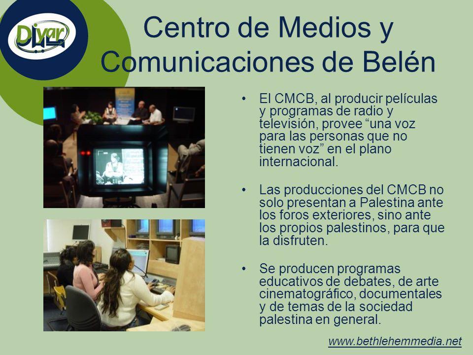 Centro de Medios y Comunicaciones de Belén El CMCB, al producir películas y programas de radio y televisión, provee una voz para las personas que no t