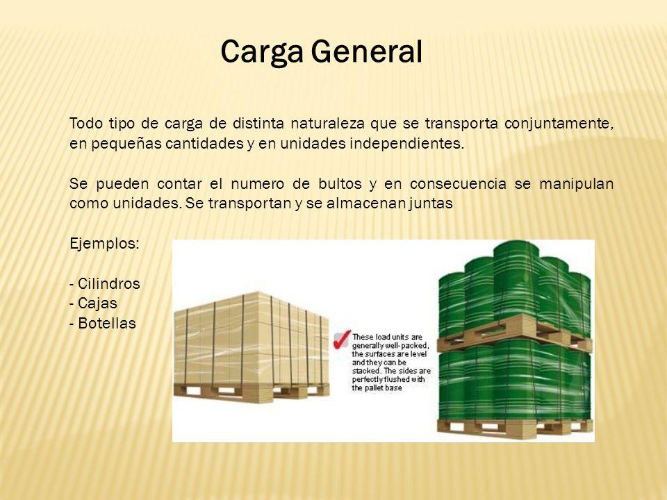 Todo tipo de carga de distinta naturaleza que se transporta conjuntamente, en pequeñas cantidades y en unidades independientes.
