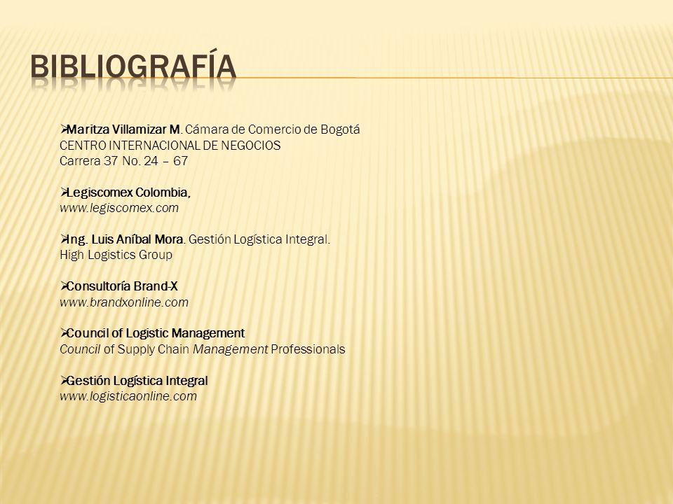 Maritza Villamizar M.Cámara de Comercio de Bogotá CENTRO INTERNACIONAL DE NEGOCIOS Carrera 37 No.