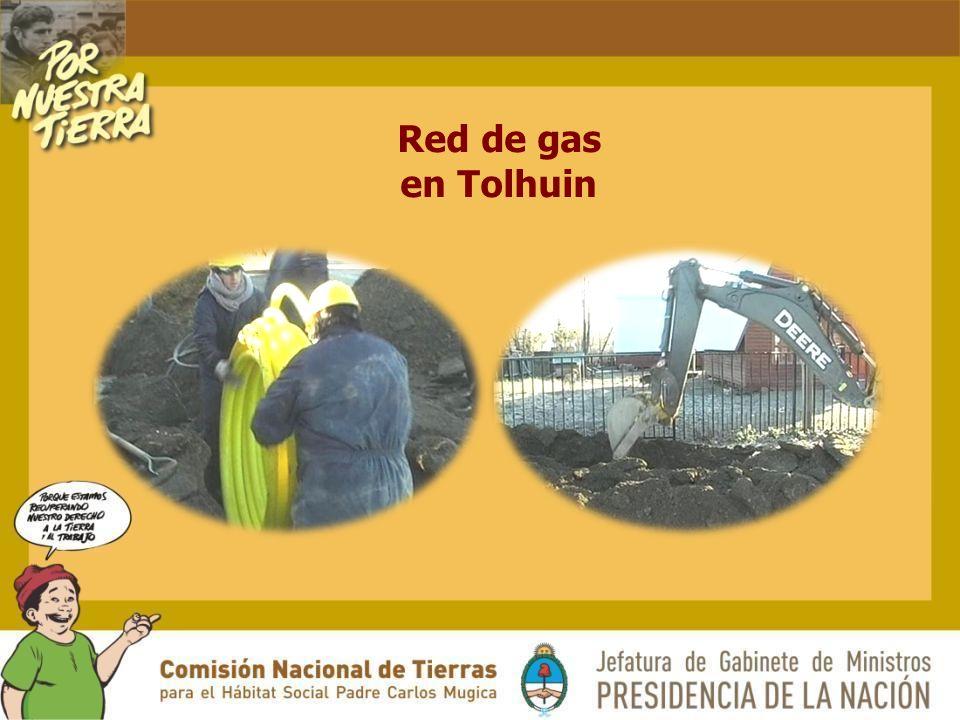 Red de gas en Tolhuin