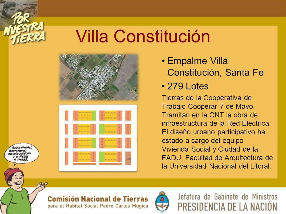 Villa Constitución Empalme Villa Constitución, Santa Fe 279 Lotes Tierras de la Cooperativa de Trabajo Cooperar 7 de Mayo.