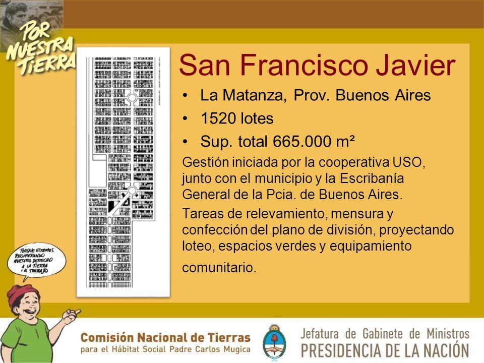 San Francisco Javier La Matanza, Prov.Buenos Aires 1520 lotes Sup.