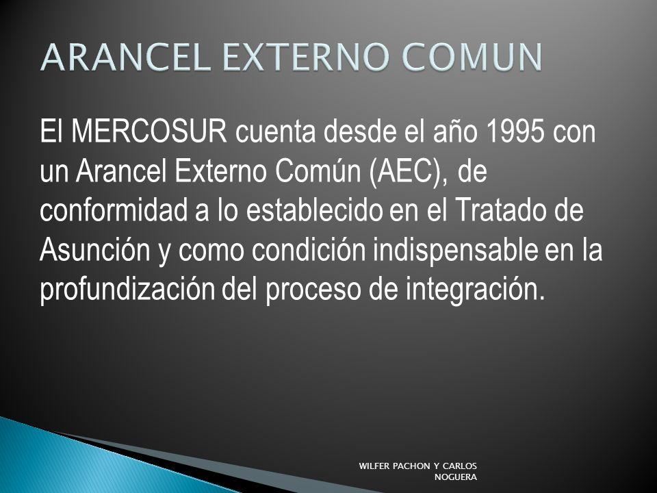 El MERCOSUR cuenta desde el año 1995 con un Arancel Externo Común (AEC), de conformidad a lo establecido en el Tratado de Asunción y como condición in