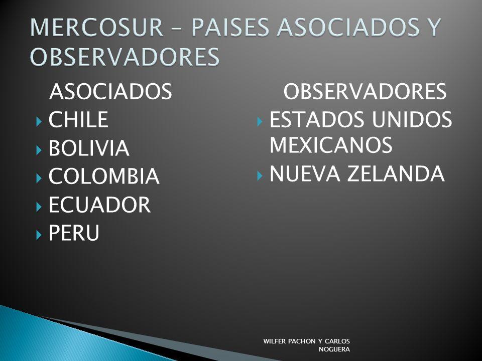 ASOCIADOS CHILE BOLIVIA COLOMBIA ECUADOR PERU OBSERVADORES ESTADOS UNIDOS MEXICANOS NUEVA ZELANDA WILFER PACHON Y CARLOS NOGUERA