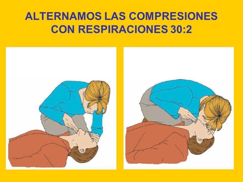 ALTERNAMOS LAS COMPRESIONES CON RESPIRACIONES 30:2