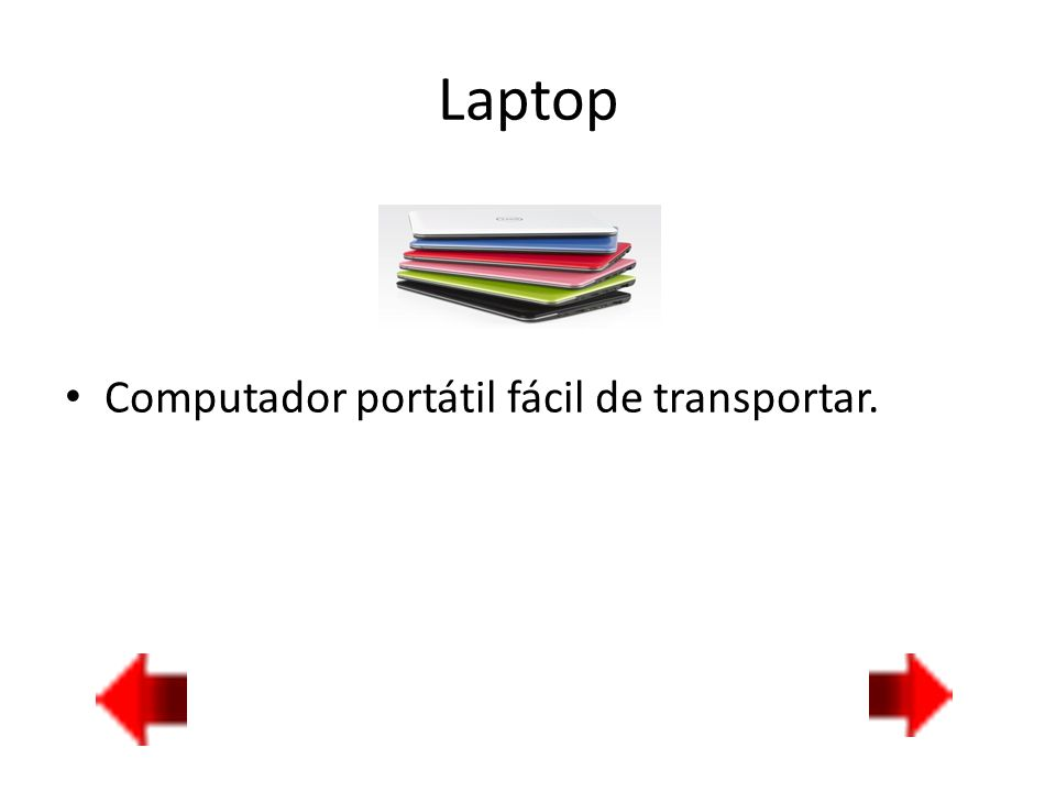 Laptop Computador portátil fácil de transportar.