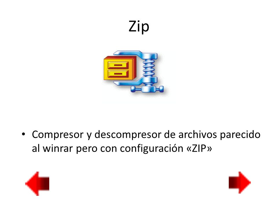 Zip Compresor y descompresor de archivos parecido al winrar pero con configuración «ZIP»