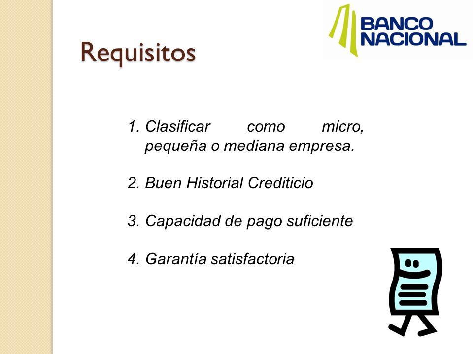 Requisitos Persona física Fotocopia de la cédula de identidad Información de ingresos y gastos del negocio.
