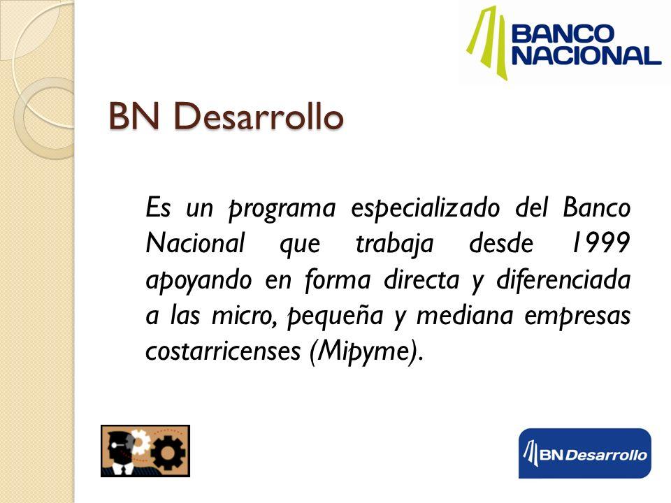 Es un programa especializado del Banco Nacional que trabaja desde 1999 apoyando en forma directa y diferenciada a las micro, pequeña y mediana empresa