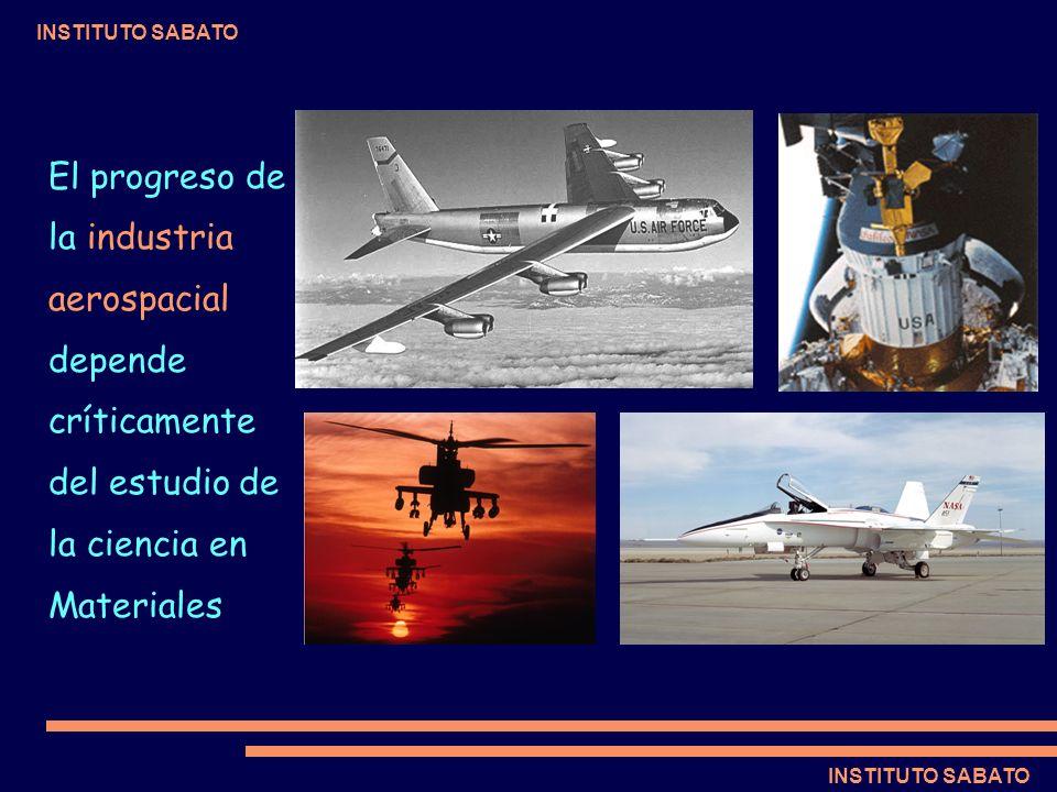 INSTITUTO SABATO El progreso de la industria aerospacial depende críticamente del estudio de la ciencia en Materiales