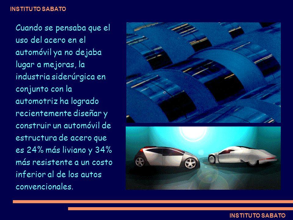 INSTITUTO SABATO Cuando se pensaba que el uso del acero en el automóvil ya no dejaba lugar a mejoras, la industria siderúrgica en conjunto con la auto