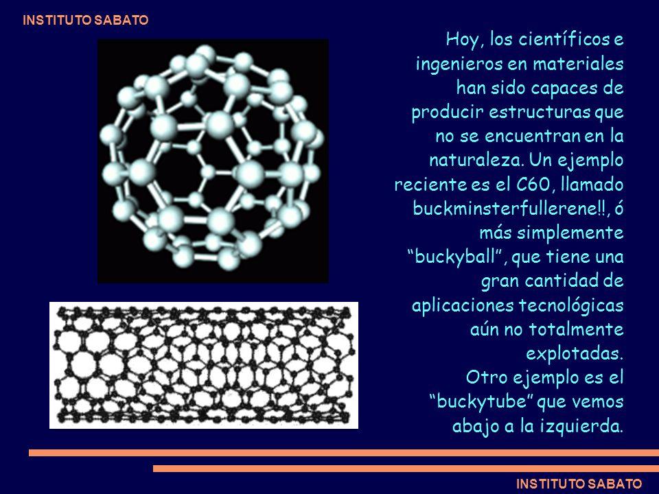INSTITUTO SABATO Hoy, los científicos e ingenieros en materiales han sido capaces de producir estructuras que no se encuentran en la naturaleza. Un ej