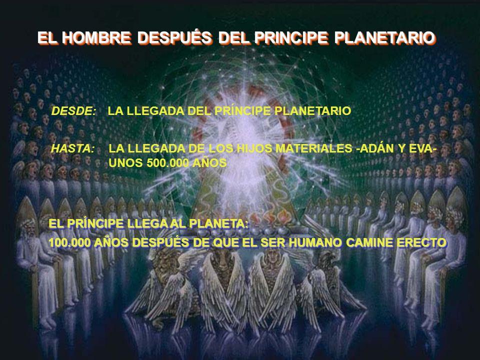 EL HOMBRE DESPUÉS DEL PRINCIPE PLANETARIO DESDE: HASTA: LA LLEGADA DEL PRÍNCIPE PLANETARIO LA LLEGADA DE LOS HIJOS MATERIALES -ADÁN Y EVA- UNOS 500.00