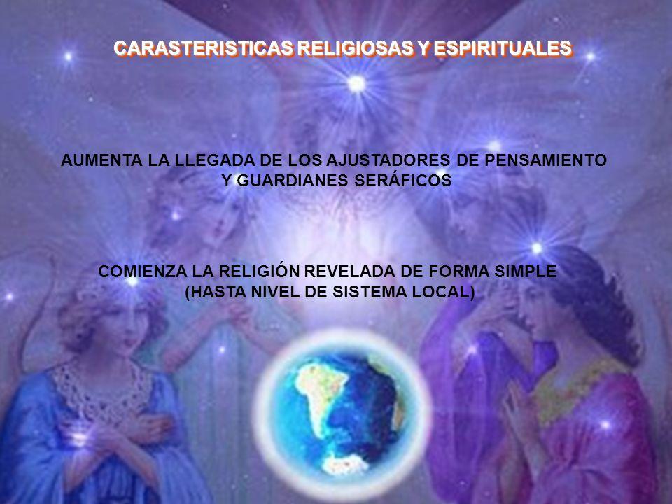 AUMENTA LA LLEGADA DE LOS AJUSTADORES DE PENSAMIENTO Y GUARDIANES SERÁFICOS COMIENZA LA RELIGIÓN REVELADA DE FORMA SIMPLE (HASTA NIVEL DE SISTEMA LOCA