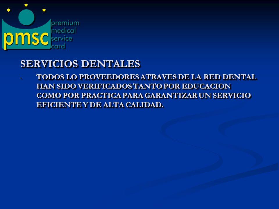 SERVICIOS DENTALES - OBTENDRA ACCESO A NIVEL NACIONAL A SOBRE 58,000 PROVEEDORES DENTALES - SE AHORRARA DESDE UN 30% HASTA UN 60% EN TODO TIPO DE PROCEDIMIENTO DENTAL COMO: routine cleanings & fillings crowns & root canals orthodontics bridges emergency & specialized dental needs SERVICIOS DENTALES - OBTENDRA ACCESO A NIVEL NACIONAL A SOBRE 58,000 PROVEEDORES DENTALES - SE AHORRARA DESDE UN 30% HASTA UN 60% EN TODO TIPO DE PROCEDIMIENTO DENTAL COMO: routine cleanings & fillings crowns & root canals orthodontics bridges emergency & specialized dental needs