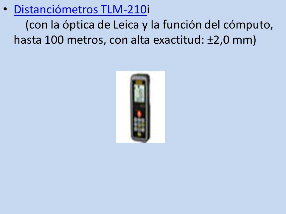 Distanciómetros TLM-210i (con la óptica de Leica y la función del cómputo, hasta 100 metros, con alta exactitud: ±2,0 mm) Distanciómetros TLM-210