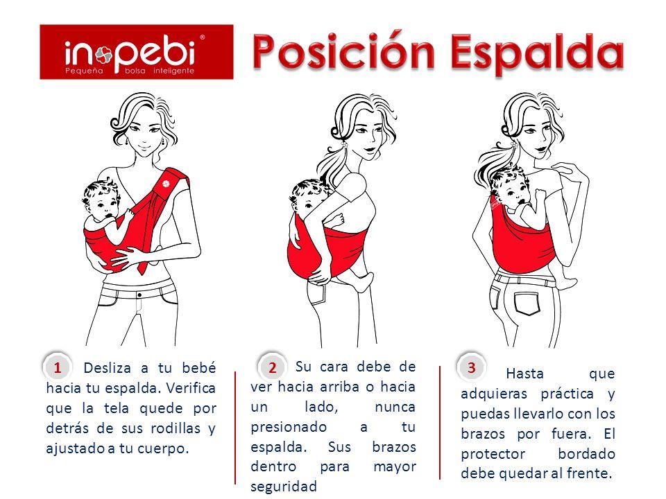 Partiendo de la posición Vientre gira a tu bebé hacia tu cadera, deslizándolo suavemente.