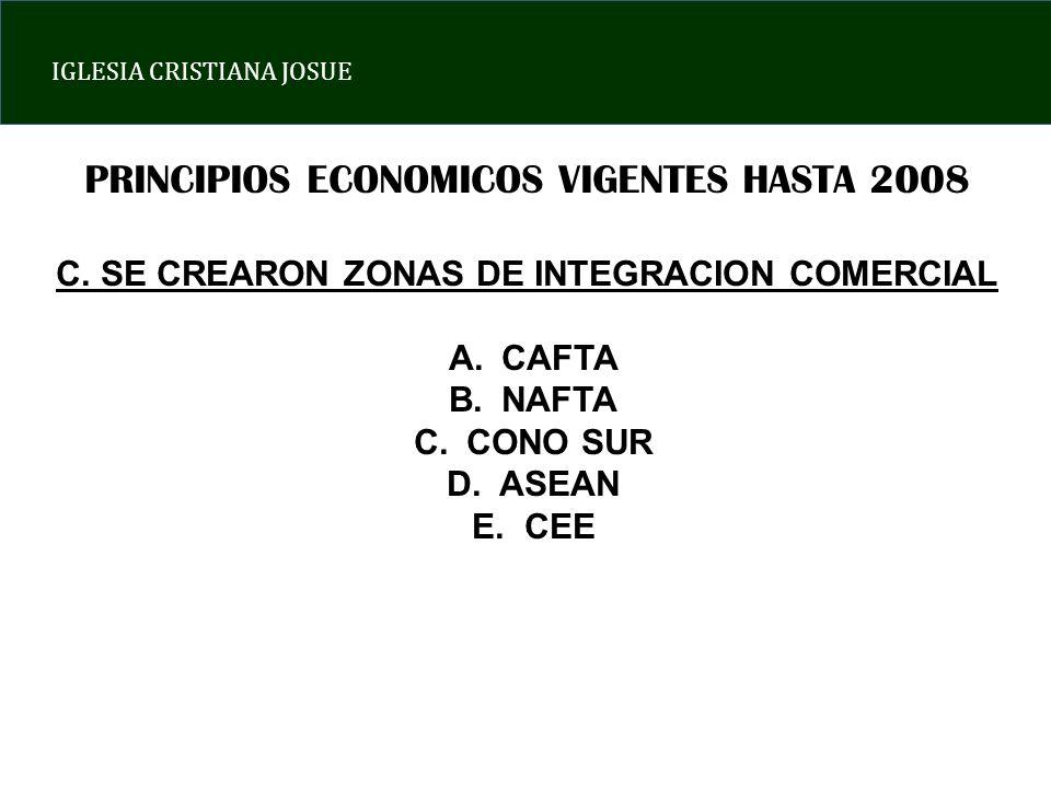 IGLESIA CRISTIANA JOSUE PRINCIPIOS ECONOMICOS VIGENTES HASTA 2008 C.