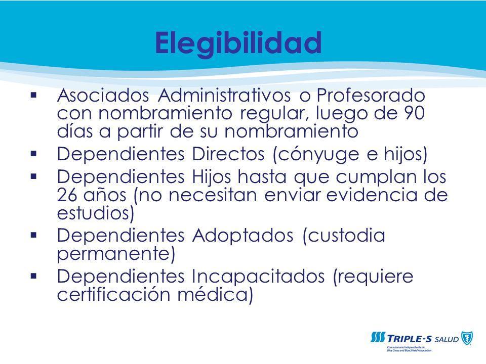 CUBIERTA DE PLAN MÉDICO Sistema Universitario Ana G. Méndez Vicepresidencia de Recursos Humanos Asociados Administrativos o Profesorado con nombramien