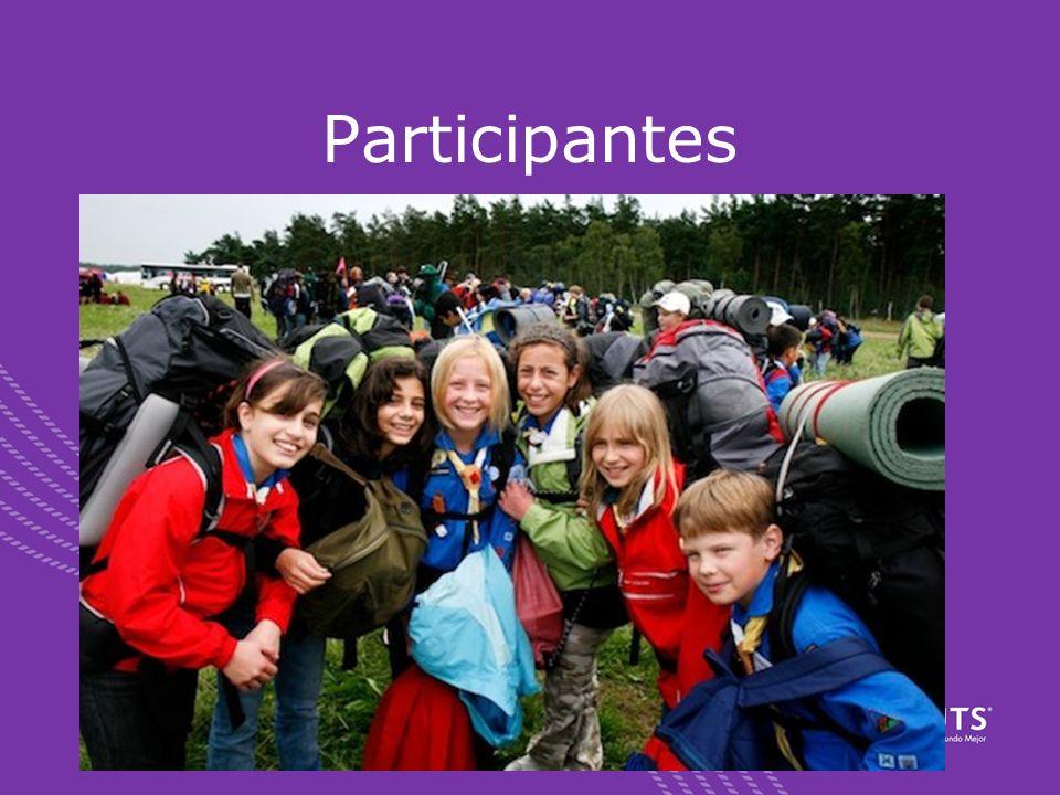 Participantes Oportunidad única en la vida Estar dispuestos a conocer y compartir con gente de todo el mundo Tener el ánimo y las ganas de participar!