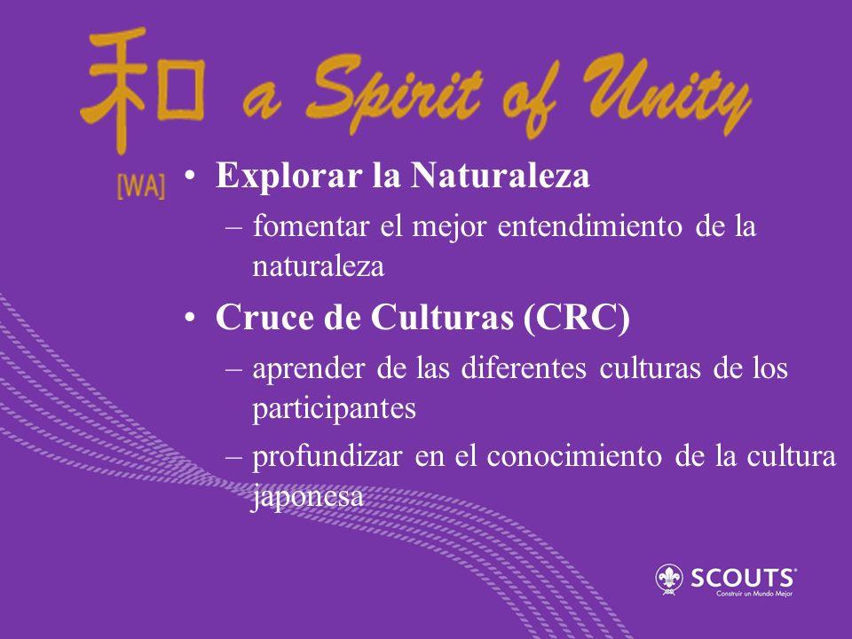Explorar la Naturaleza –fomentar el mejor entendimiento de la naturaleza Cruce de Culturas (CRC) –aprender de las diferentes culturas de los participa