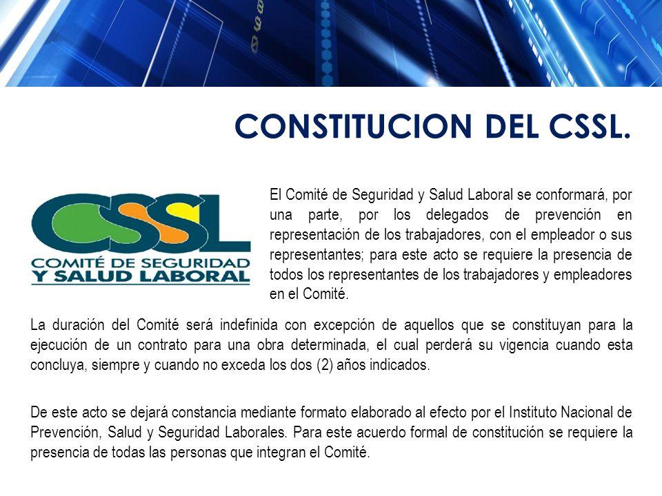 El Comité de Seguridad y Salud Laboral se conformará, por una parte, por los delegados de prevención en representación de los trabajadores, con el emp
