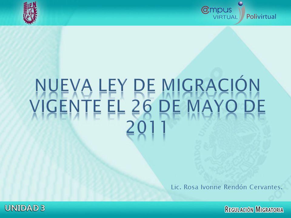 El artículo sexto transitorio de la LEY DE MIGRACIÓN ESTABLECE: SEXTO.