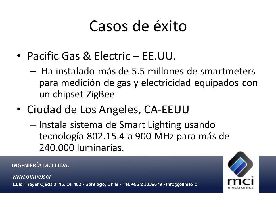Casos de éxito Pacific Gas & Electric – EE.UU. – Ha instalado más de 5.5 millones de smartmeters para medición de gas y electricidad equipados con un