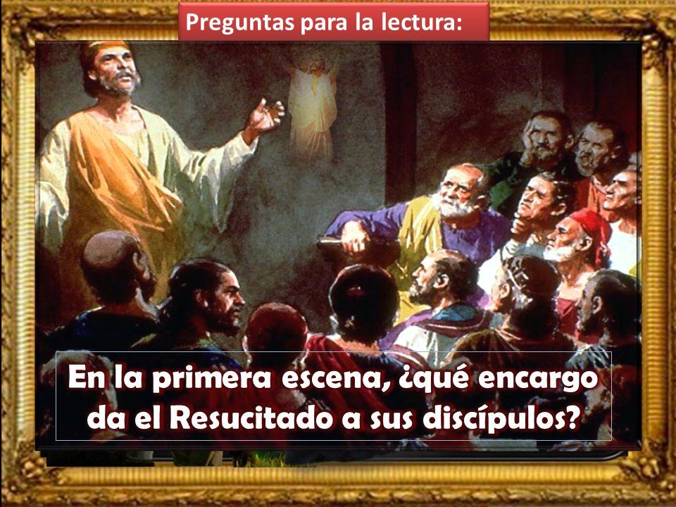 Lc 24, 46-53 En aquel tiempo, dijo Jesús a sus discípulos: «Así estaba escrito: el Mesías padecerá, resucitará de entre los muertos al tercer día, y e