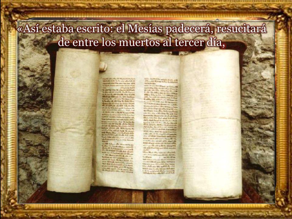 Lectura del Santo Evangelio según San Lucas 24, 46-53 En aquel tiempo, 46 dijo a sus discípulos: