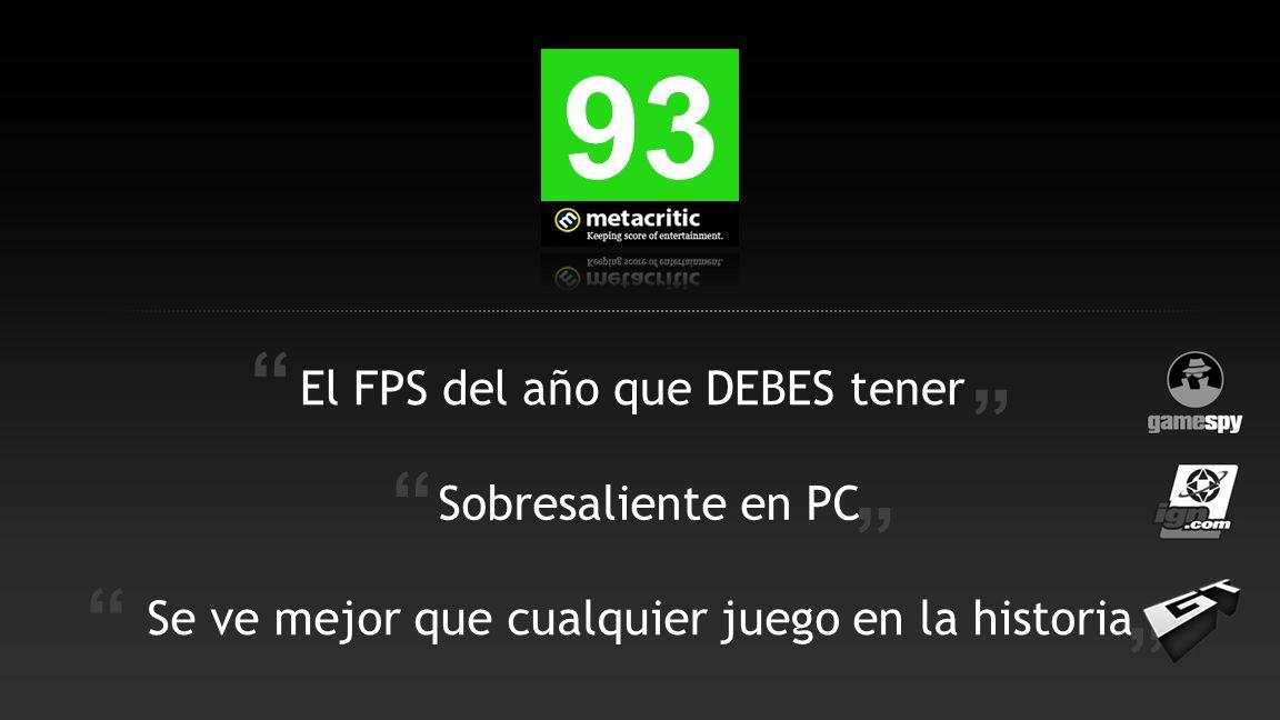 93 El FPS del año que DEBES tener Se ve mejor que cualquier juego en la historia Sobresaliente en PC