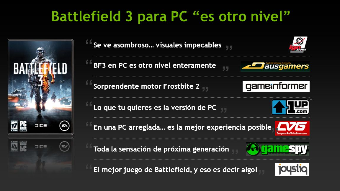 ¡Ármate con las GPU NVIDIA GeForce GTX! GeForce GTX 580 GeForce GTX 570 GeForce GTX 560