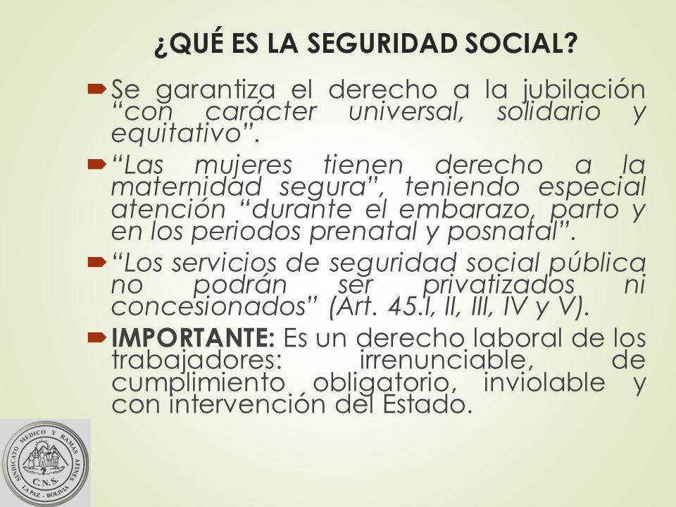 ¿QUÉ ES LA SEGURIDAD SOCIAL.
