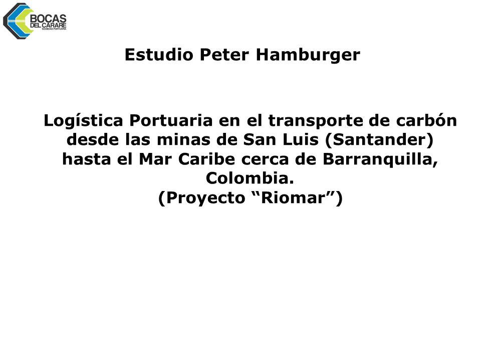 Logística Portuaria en el transporte de carbón desde las minas de San Luis (Santander) hasta el Mar Caribe cerca de Barranquilla, Colombia.