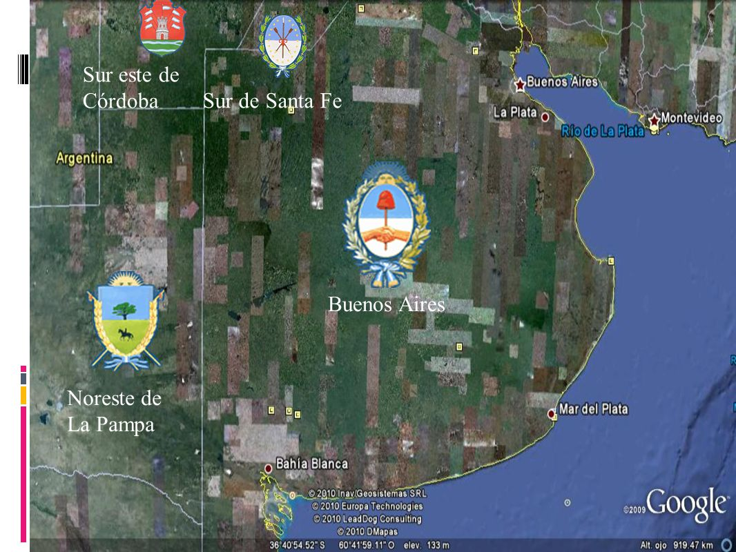 Relieve Buenos Aires La Pampa Santa Fe Cordoba Desde 0m hasta 500m Desde 0m hasta 100m Desde 0m hasta 500m Desde100m hasta 2000m