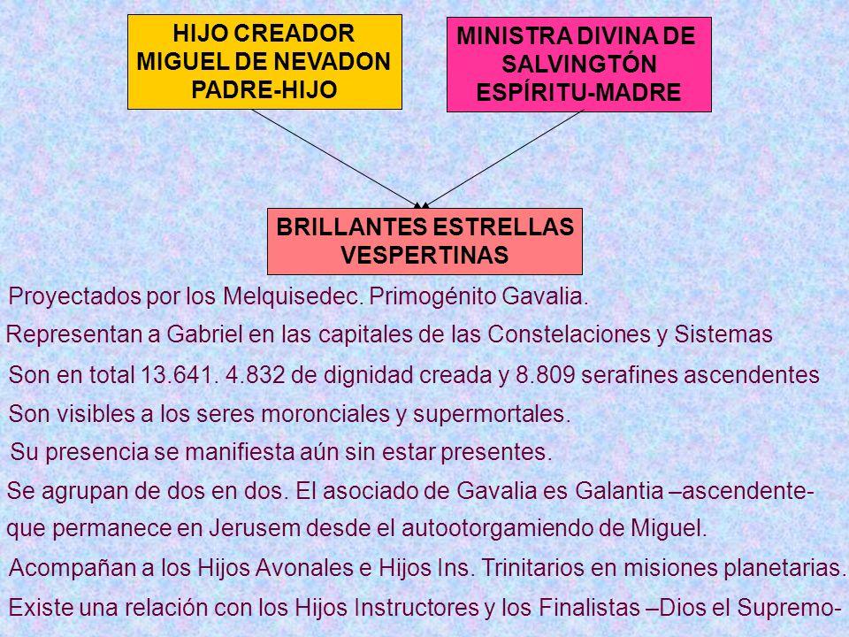 HIJO CREADOR MIGUEL DE NEVADON PADRE-HIJO MINISTRA DIVINA DE SALVINGTÓN ESPÍRITU-MADRE BRILLANTES ESTRELLAS VESPERTINAS Existe una relación con los Hi