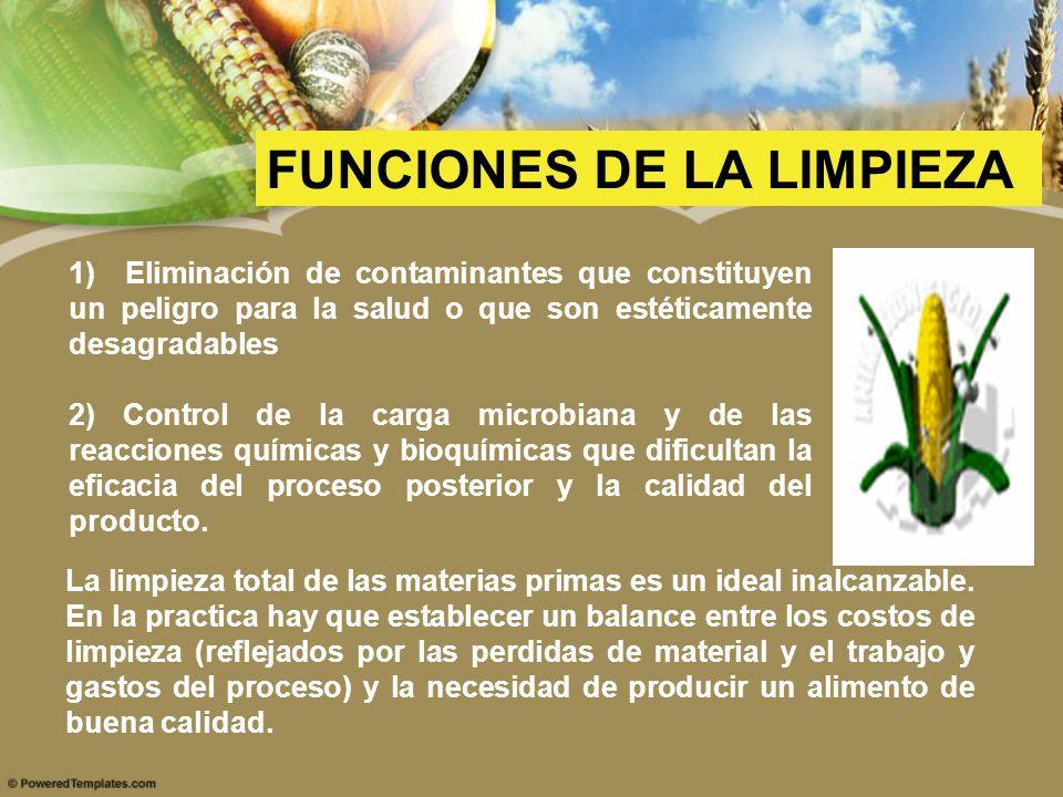 1) Eliminación de contaminantes que constituyen un peligro para la salud o que son estéticamente desagradables 2) Control de la carga microbiana y de