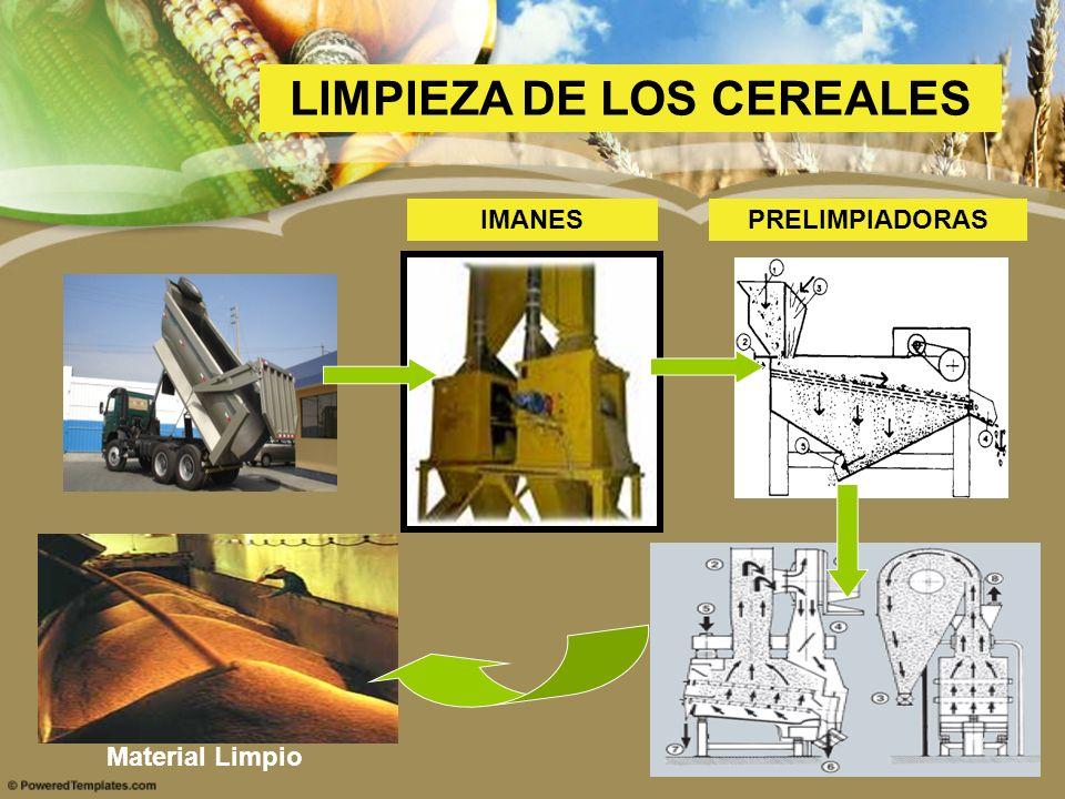 LIMPIEZA DE LOS CEREALES IMANESPRELIMPIADORAS Material Limpio