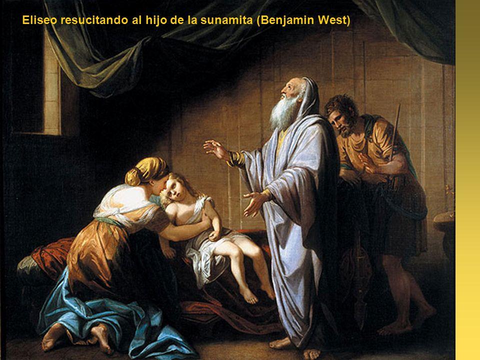 Eliseo resucitando al hijo de la sunamita (Benjamin West)