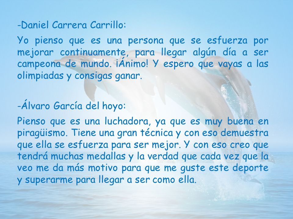 -Jesús: Isa Contreras, a pesar de su corta talla, nada le ha impedido llegar y lograr todo lo que se ha propuesto.