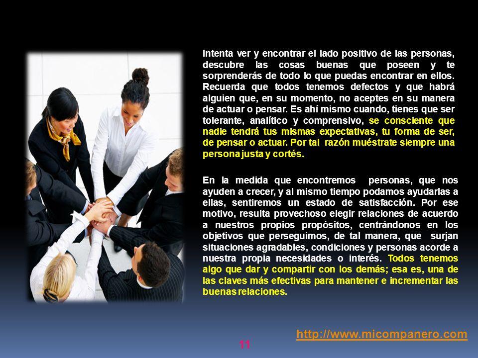10 5.Quinta técnica: Mejora tus relaciones con las personas e incrementa tus amistades. Crea vínculos asertivos y duraderos. Por naturaleza somos sere