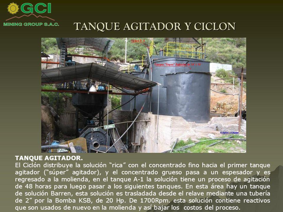 TANQUE AGITADOR Y CICLON TANQUE AGITADOR.